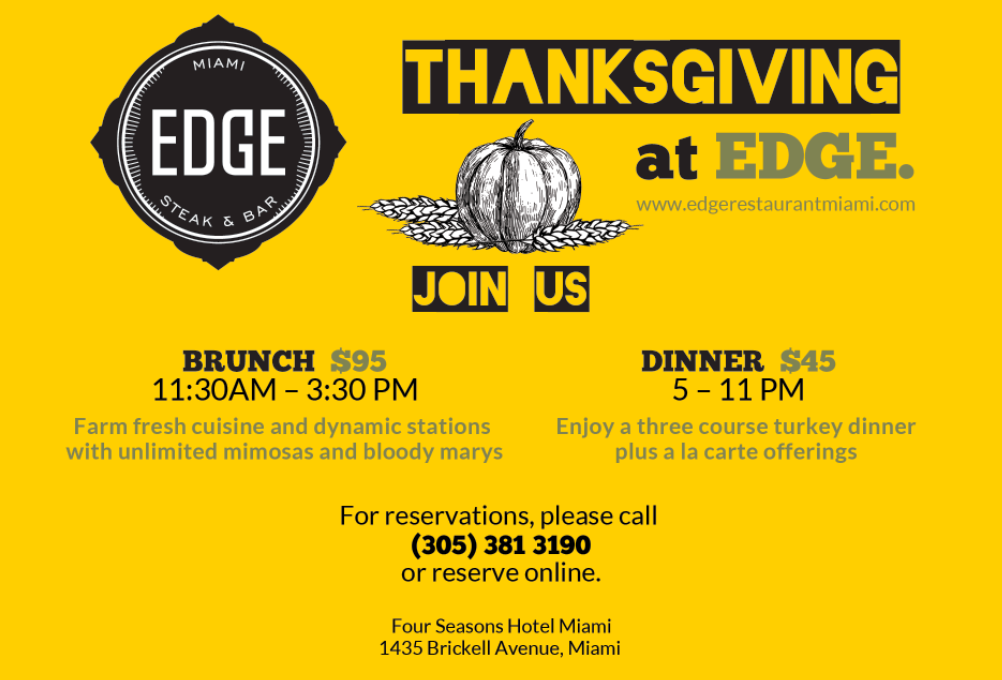 EDGE Steak & Bar Holiday