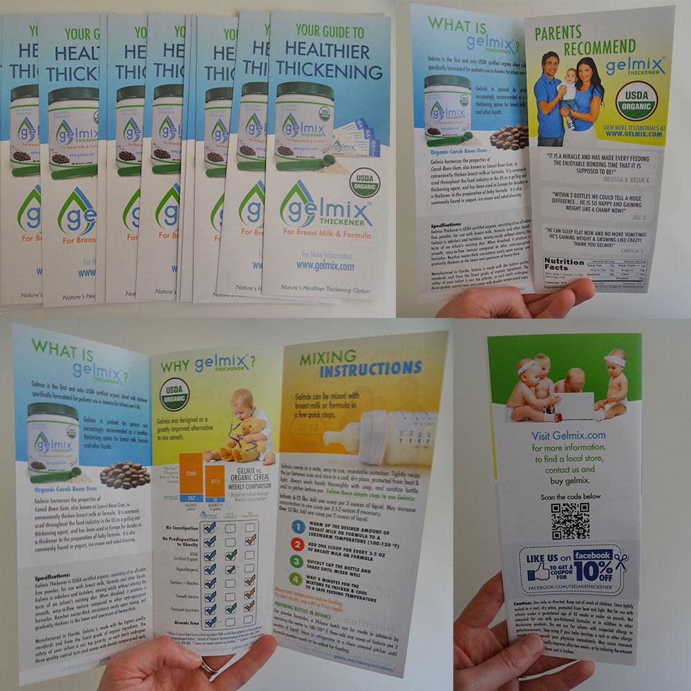 Gelmix Brochure Design